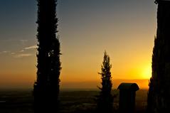 father (No Borders Nomad) Tags: park city trees sky italy sun field night contrast sunrise high nikon jesus silouette monastery cypress albero dept d300 cipressi allaperto curone montevecchia