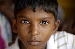 Sri Lankan tsunami survivor at Kinniya refugee camp