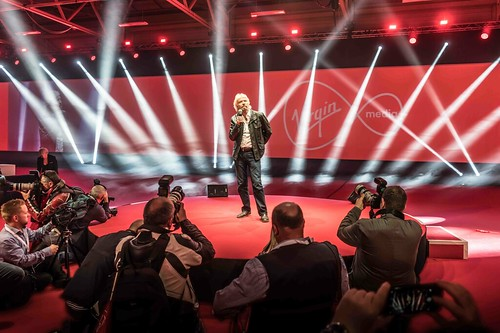 RICHARD BRANSON LAUNCHES VIRGIN MEDIA AT THE RDS [UPC REBRANDED AS VIRGIN]REF-10858517