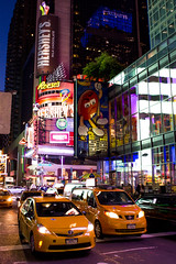 Taxi's - Times Square - New York City (jack.mihlenstedt) Tags: street new york city nyc newyork night taxi timesquare