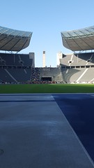 Berlin olympic stadium across the lovely, bouncy, running track (LynWhitfield) Tags: berlin olympicstadium runningtrack