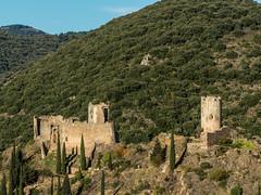 Tour regine (L) & Cabaret Cathar Castles (DigPeter) Tags: france europe fortification languedocroussillon corbieres lastours peterphoto