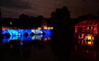 Chartres en Lumières 2015 - Pont Saint-Père, lavoir de la Grenouillère