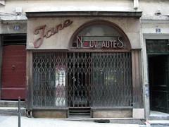 Missing letter [Lyon 1er, France] (biphop) Tags: france shop store missing europe magasin jane lyon letter shopfront lettre croixrousse devanture nouveautes manquante