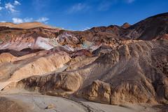 Artist Palette (Russmosis) Tags: california nature landscape day desert clear deathvalley geology earthtones artistpalette harshlight theamericansouthwest