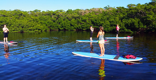 11_30_15 Paddleboard Yoga in Lido Mangroves FL 07
