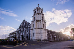 Our Lady of the Gate Parish Church (OJ A) Tags: sunset church nikon philippines hdr daraga albay d7100