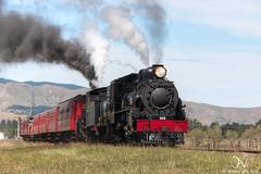 Glenmark Departure [1] (savv_nz) Tags: new museum train memorial war pass railway ab canterbury class steam zealand locomotive preservation weka 428 608 passchendaele a nzr steamincorporated