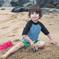big digger (lucky e) Tags: ocean beach hawaii pacific maui grandson enzo oldest kaanapali 4yrs