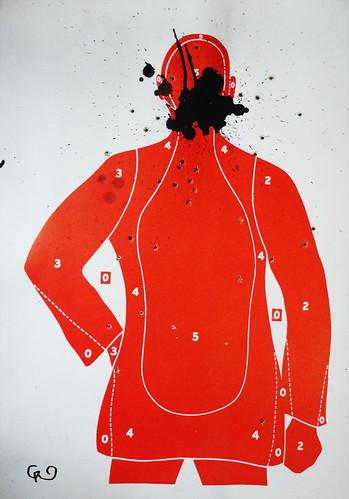 Serie_ VIOLENCIA SIN GENERO. Violencia Verbal _Acrílico sobre blancos de cartón75x54_Nov2015