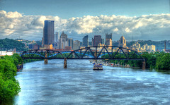 TG 15 06 27 010 (pugpop) Tags: downtown pittsburgh pennsylvania hdr theempress alleghenyriver 2015 31ststreetbridge 33rdstreetrailroadbridge
