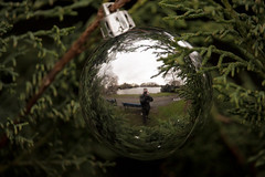 Xmas ball in the park (Peter.Beck) Tags: park christmas reflection ball mirror decoration