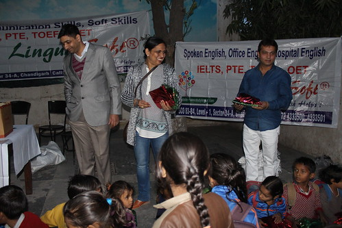 LinguaSoft Team distributing Christmas gifts at Ashiana children's home Panchkula