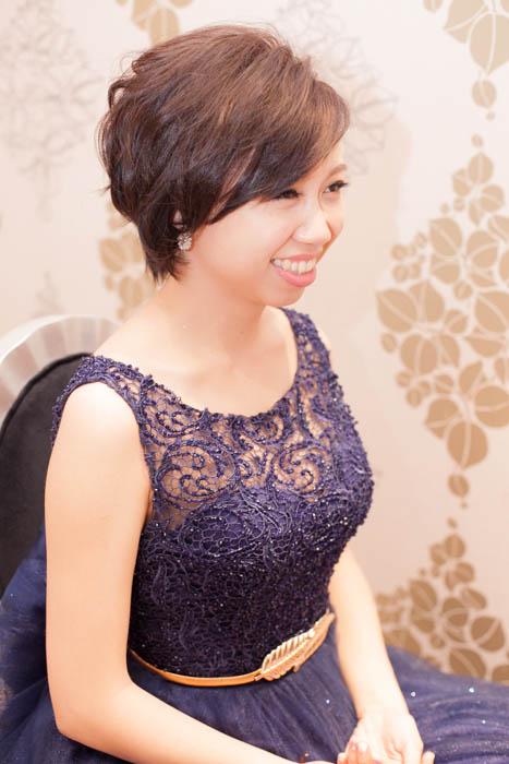 愛瑞思造型團隊,新秘Hanya,新娘秘書,台北新秘推薦,短髮新娘,俏麗短髮造型,浪漫花圈造型,文定造型,新娘髮型