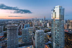 A Million-Dollar View (Michael Muraz) Tags: 2015 canada downtown northamerica on ontario shangrila toronto world bluehour building city cityscape dusk night nightphotography roof rooftop skyline skyscraper tower town twilight ca
