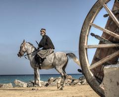 An Ottoman Turk Soldier in Heraklion, Crete (neilalderney123) Tags: 2016neilhoward crete olympus soldier horse movieset greece heraklion travel dagger