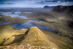 (OutdoorMonkey) Tags: culbeag culmor suilven assynt scotland countryside nature outside outdoor mountain hill hillside mountainside morning sunshine sunlight waterscape lake loch lochsionasgaig