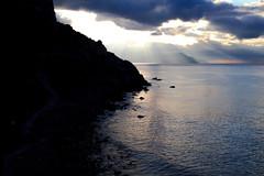 Robber Bay / Novy Svet (figishe2) Tags: crimea novysvet robber bay 50mm sigma sea sunrise rays clouds landscape morning sillhouette