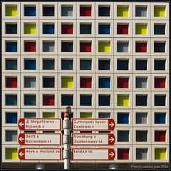 Squares, the Mondrian way (Ciao Anita!) Tags: denhaag thehague laia zuidholland nederland netherlands olanda laakkwartier school mondriaancollege geometrie geometry geometria scuola