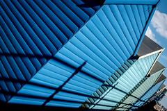 50 Sheds Of Blue (Sean Batten) Tags: nikon df 35mm hernebay england unitedkingdom gb blue shed beachhuts hut beach sky
