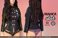 "Phedora exclusively for Uber- ""Bianca"" set!  (Celena Galli ~ phedora.) Tags: sl slink maitreya belleza uber fashion event phedora secondlife military sexy"