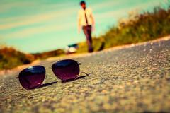 Rejected Heroes (iratebadger) Tags: nikon nikond7100 d7100 nikk nikkor glasses shades person perspective slanted road walking shirt tie blacktie blur blurry bokeh focus outoffocus outdoors outside lane countryside