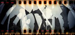 Fountains Abbey (pho-Tony) Tags: doubleexposure sprocketrocket englishheritage film analog analogue vintage retro perforations sprocket hole sprockethole 135 35mm ishootfilm filmisnotdead holes sprocketography  filme35mmcomtrilha trilha perforeringshl kleinbildfilm perforationslcher lomo lomography toy plastic 30mm wide panoramic xpan 24mmx72mm agfa vista rollei digibase c41