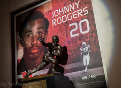 Johnny Rodgers Heisman Trophy (Codydownhill) Tags: football game huskers big red sports portrait trophy brother dad