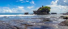 Pura Tanah Lot (ben_leash) Tags: blue temple hindu sony a77 panorama panoramic bluesky clouds sea ocean indianocean bali indonesia marine sunny rock coast coastal tropical