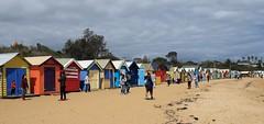 tourists on the beach (dvsung) Tags: canon70d sigma1750 tourists beach boxes brighton victoria australia