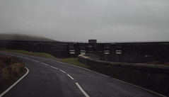The Dam (Aaron Pennett) Tags: mountains blacktop white paint mourne spelga dam valley mountain road tarmac bend curve wall reservoir ni northern ireland drop moody greydays autumn atmosphere still silent quiet landscape