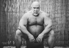 Hard shell, soft core! (OliverZeukePhoto) Tags: man men muscles musclebear belly hairy masculine tattoo blackandwhite