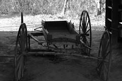 Wagon Wheel (rickmantyler) Tags: wheel barn d7100 nikon rustic wagon white black