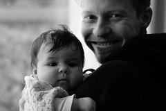 Proud uncle (gornabanja) Tags: brother uncle niece daughter blackandwhite blackwhite family happy love baby infant man nikon d70