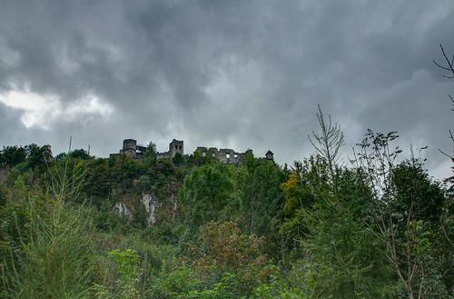 Am Fuße der Burg Landskron_