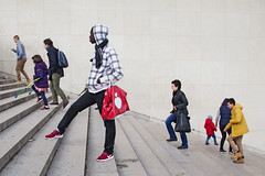 Variety [EXPLORED] (Ktoine) Tags: paris stairs sell black people candid tourist tourism city street