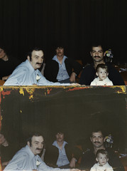 hayejel_sayreville_20130216_018_cr_RIP_TKv1_st_splice_vert (CARE for Sandy) Tags: c1 group seated sitting indoors inside flowers mustache men child baby boy adult dults suave drapes corsage prty tables
