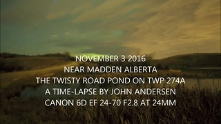 Nov 3 Twisty Pond Alberta