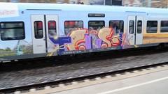Graffiti (Honig&Teer) Tags: graffiti honigteer train treno traingraffiti trainart railroadgraffiti spraycanart sport steel db deutschebahn aerosolart urbanart
