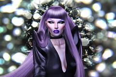 Miss Thing . (Venus Germanotta) Tags: secondlife fashion fierce slay edit weave hair photoshop virtual diamond blackdiamond shine aesthetic lavender purple style leather avantgarde thankyou fullface photoshoot