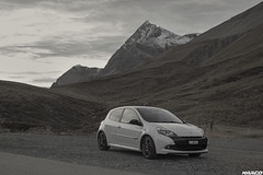 Fall atmosphere on the Pass (Iceman_Mark) Tags: renault clio sport rs phase 3 200 cup black pearl white noir blanc givre nacr limited edition 2litre naturally aspirated four cylinder 2010 autumn albula pass engadin graubnden switzerland alps