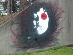 LM (octobre 2016) (Archi & Philou) Tags: portrait streetart murpeint paintedwall paris13 visage face