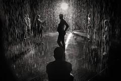 The Rain Room (Trent's Pics) Tags: california losangeles rain wife husband pregnancy museumofart art county lacma rainroom