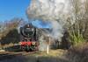 First Train (4486Merlin) Tags: 70013 brstd7mtbritannia exbr greatcentralrailway heritagerailways midlands olivercromwell railways steam transport woodthorpe leicestershire unitedkingdom gbr lasthurrahgala
