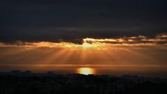 Segur de Calafell, Spain (D-A-O 1 Million Views! Thank you!) Tags: sunrise sunbeams rays mediterranean sea nikon d750