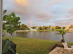 Rainbow from back patio 20161123 (Kenneth Cole Schneider) Tags: florida miramar