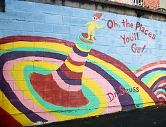 . (SA_Steve) Tags: brooklyn nyc mural school drseuss ohtheplacesyoullgo colorful wall color colour colors
