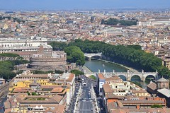 Rome - View from Basilica Papale di San Pietro in Vaticano (marounektom) Tags: m rome rom roma    italy itlie architecture vatican citt del vaticano basilica papale san pietro st peters church view from the tower panorama piazza square forum sancti petri city papal enclave state
