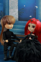 Midnight Dreams (twilitize) Tags: park girls boy man guy love boys girl night photography doll dolls sweet good girly gothic pop nightshade nighttime romantic groove sweetie pullip lovely playtime dolly popular stroll darling rom pullips photostream daring dollphotography pullipphotography