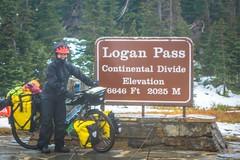 Finally we reach the top of Logan Pass!